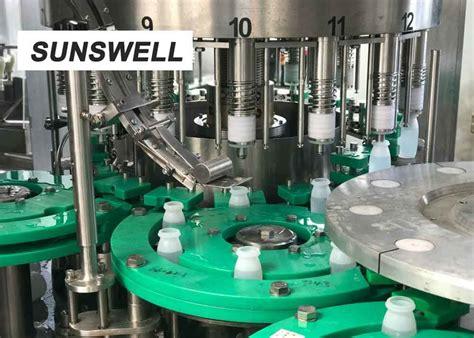 sunswell customized bottle shape liquid filling machine  aluminum foil sealing
