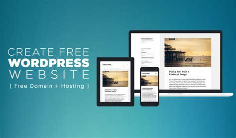create   wordpress website  domain hosting