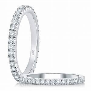 AJAFFE Platinum Diamond Wedding Ring Band WR0855 TQ