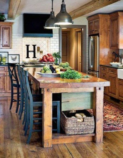 trendy kitchen table island combo style homemade