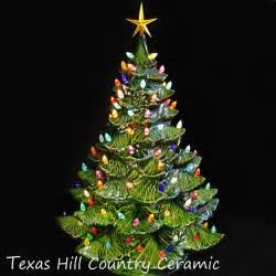ceramic tree 24 inches green tree colorful lights texasceramics