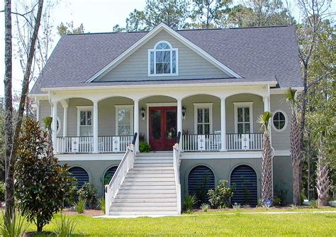 Low Country House Plan With Elevator 9152gu