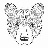 Totem Animal Coloring Bear Drawn Drawing Animals Pole Poles Vector Panda Adult Ethnic Sheets Patterned Getdrawings Tribal Doodle sketch template