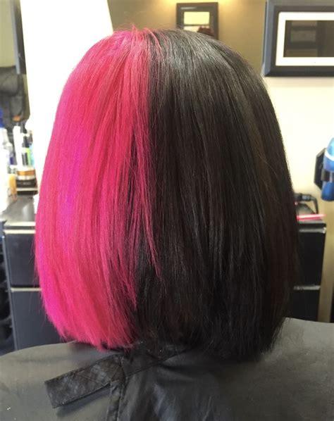 tone    black  pink hair  tone hair