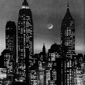 Vintage Black And White Bright Lights In Nyc