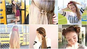 5 Quick n' Easy Back to School Heatless Hairstyles! - YouTube