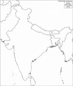 Physical map of India blank - India physical map blank ...