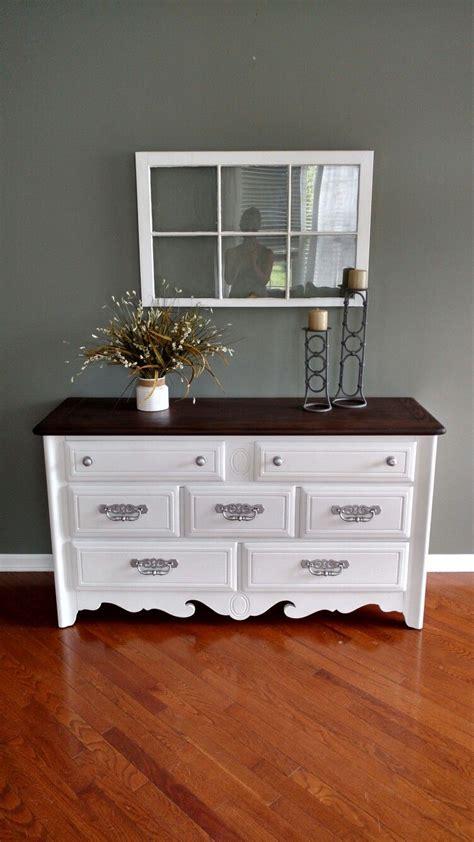 goodwill dresser painted  linen white chalk paint