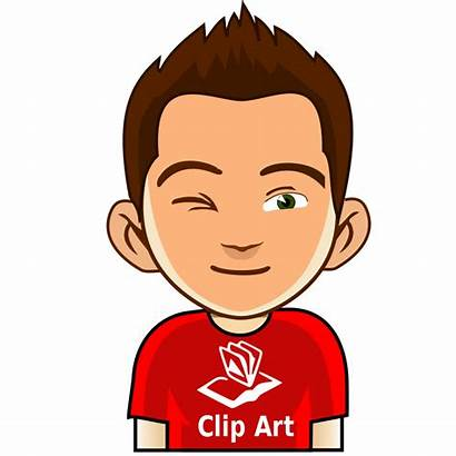 Winking Boy Clipart Wink Profile Clip Face