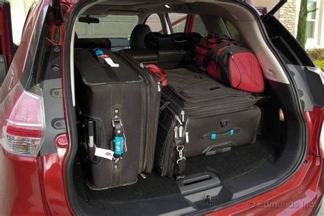 nissan tiida trunk space cargo space versus the rogue 2015 nissan murano long
