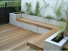 Garden Bench Seating of Modern Decked Entertaining Area Olive Garden Design And Landscaping