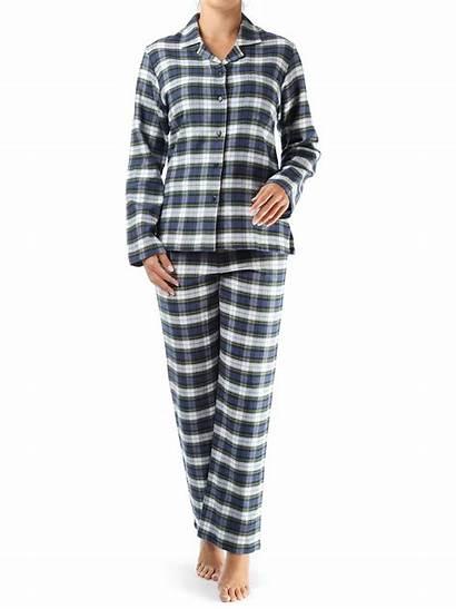 Pyjama Helena Novila Damen Marine Flanell Gemustert