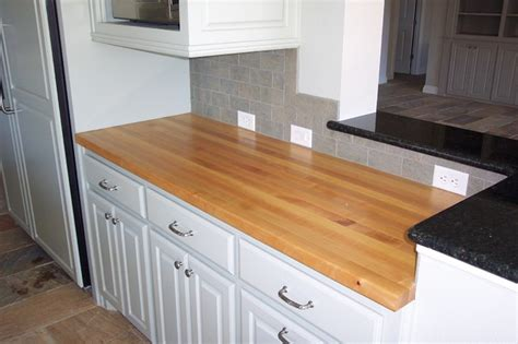 maple edge grain wood counter tops traditional kitchen