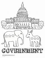 Government Coloring Pages Washington Dc Getcoloringpages sketch template