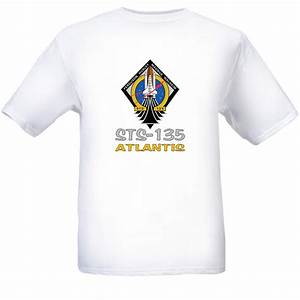 STS-135 Space Shuttle Atlantis T-shirt White XX-Large