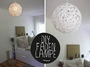 Lampe Aus Pappmache : diy bast lampe perfekt rund schnur faden lampe ~ Markanthonyermac.com Haus und Dekorationen