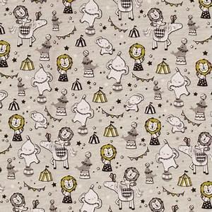 Tissu Gris Chiné : tissu jersey cirque gris chin jaune ~ Teatrodelosmanantiales.com Idées de Décoration