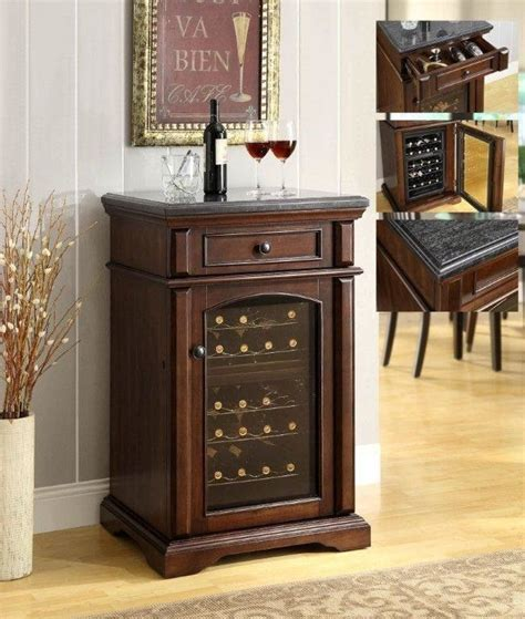 walnut finish granite top wine cooler with outstanding