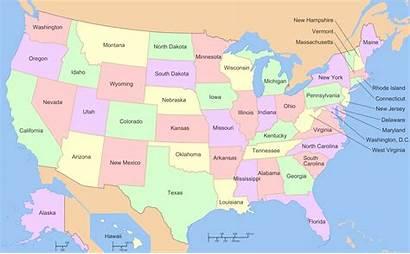 States Map Usa State Names