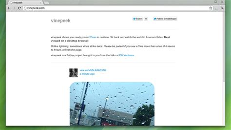 Watch Vine Videos Sprout In Real Time With Vinepeek