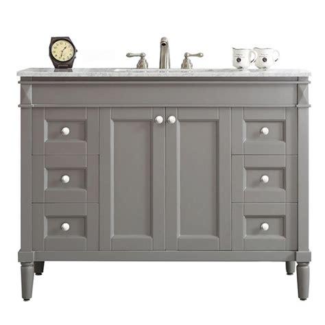 white marble vanity top vinnova catania 48 in w x 22 in d x 35 in h vanity in