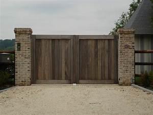 17 meilleures idees a propos de portail bois sur pinterest With fabriquer un portail de jardin en bois