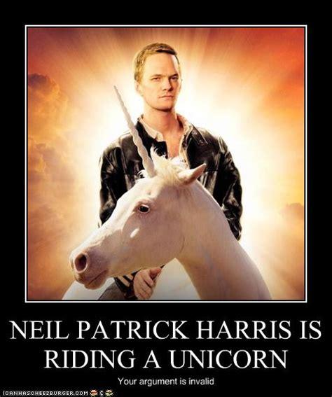 Gay Unicorn Meme - nph is riding a unicorn by mamacros on deviantart