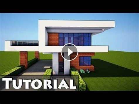 minecraft simple easy modern house mansion tutorial   build  interior