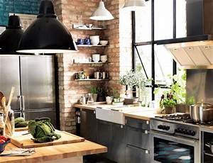 Objet Deco Industrielle : d co cuisine industrielle ~ Teatrodelosmanantiales.com Idées de Décoration
