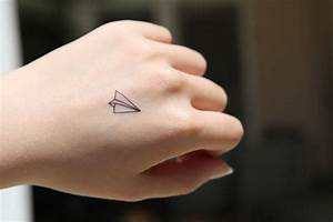 Paper Plane Small - Spirit Ink Temporary Tattoo | The ...