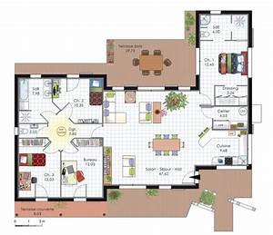 plan de maison d39architecte plans maisons With plan maison en l 100m2 6 maison design pas cher 96 en v