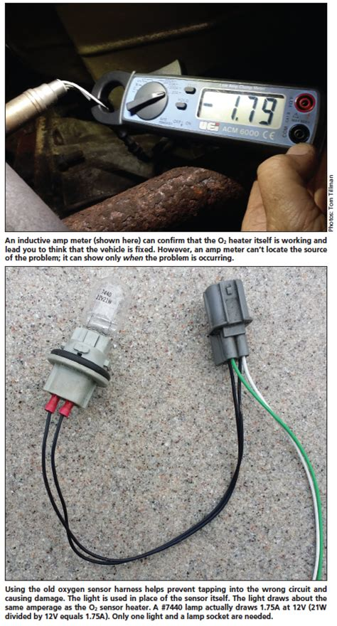 diagnosing  sensor heater circuit failures motor