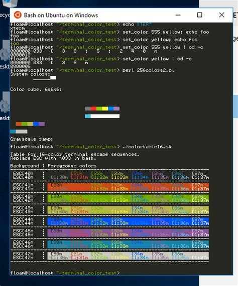 bash color scheme fish on bash on ubuntu on windows assumes 256 color
