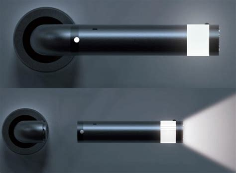 cool invention illuminated door handles doubles as