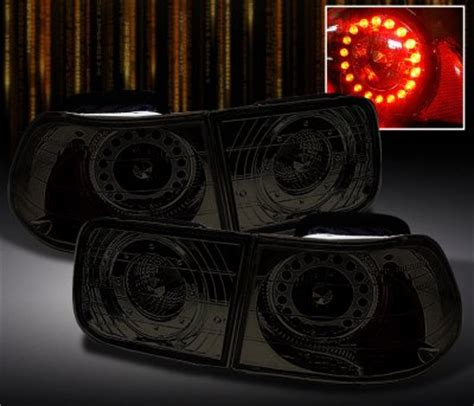 honda civic coupe   smoked led tail lights
