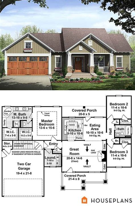craftsman style house plan    story sf
