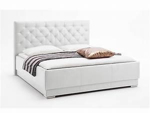 Polsterbett 160x200 Weiß : polsterbett pisa weiss 160x200 cm kunstlederbezug schlafen polsterbetten ~ Indierocktalk.com Haus und Dekorationen