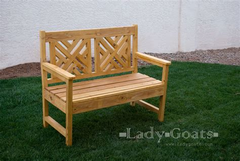 ana white woven  bench diy projects