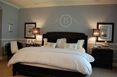 grey blue bedroom  dark furniturejpg