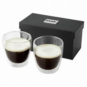 Verre à Café : set 2 tasses en verre objet publicitaire gourde mug isotherme goodies personnalis ~ Teatrodelosmanantiales.com Idées de Décoration