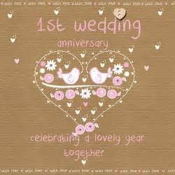 1st wedding anniversary first wedding anniversary card karenza paperie