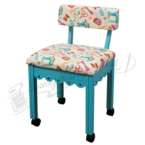 arrow sewing chair white fabric on blue 7019w