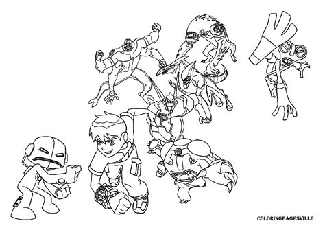 Ben 10 Omniverse Aliens Coloring Pages Coloring Pages