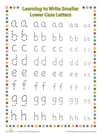 small letters  case preschool writing