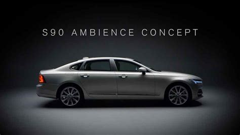 Volvo S90 Ambience Concept Takes Incar Luxury Experience