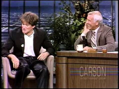 robin williams crazy  appearance  johnny carsons