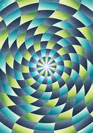 Cool Abstract Radial Pattern Design