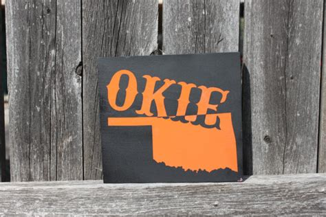 items similar to okie desk sign small oklahoma table sign