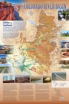 colorado river basin map water education foundation