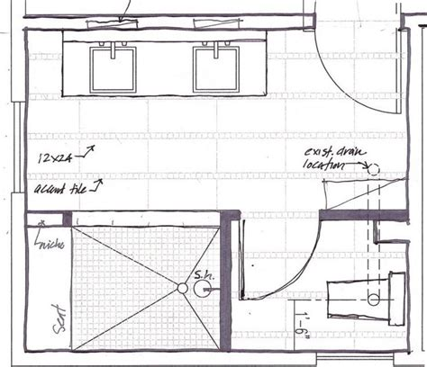 Bathroom Floor Plans Walk In Shower the master bathroom floor plans with walk in shower above